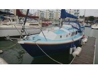 WESTERLY CENTAUR 26, NEW ENGINE ONLY 180 HOURS, NICE BOAT WELL EQUIPPED £6500