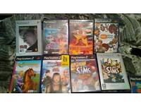 Ps2 games 17 inc eye toy camera