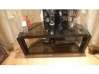 Tv glass stand 2 tier