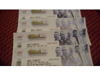 4x darts tickets on a table. Face value. Tonight, 14 December ally pally