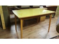 Vintage Mid Century Formica Top Kitchen Table