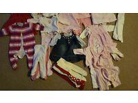 Baby girls 0-3mths winter clothing bundle