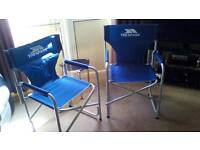 Trespass Directors Camping Chairs x 2
