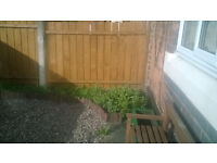 solid wood fence panels 6ft wide can be cut to size ready to erect treated and stained