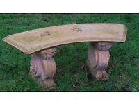 garden seat/bench concrete