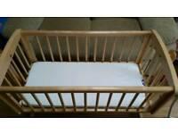 Mothercare Swinging Crib (with mattress)