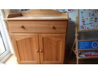 Gorgeous solid pine Mothercare changing unit