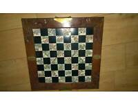 Chinese wooden hand carved chess set