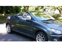 2006 peugeot 206 cc convertible hdi diesel cream leather fsh *£2495 COLT CC MICRA CC MX5 MR2 VW SIZE