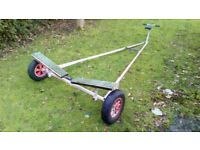 Dinghy launching trolley