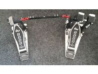 DW 8000 series double pedal with dw case