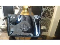 Black patent Armani hand bag