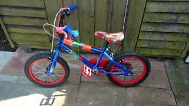Kids bike only used twice as shown in picture as good as new tyres r not even worn. Pick up only
