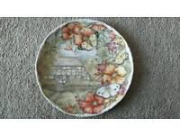 "Royal Albert ""Butterfly Garden"" & Franklin Mint ""Far From Home"" Collector Plates"