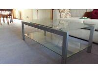 Large Coffee Table Glass/Metal