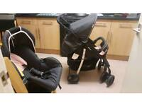 Hauck pushchair,carrycotand car seat for sale