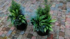 Plastic plants fake tree shrubs