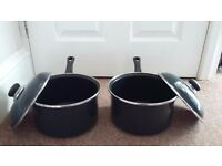 Two 'judge' 22cms saucepans (brand new)