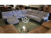 Silver/Grey cord corner RRP £2249 Media section
