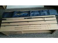 "Preston Carbonate Dutch master 13' 8"" feeder rod ,2 tips VGC"