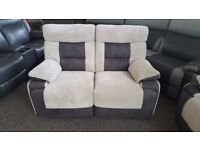 ScS Grey Nelson 2 Seater Manual Recliner Sofa **CAN DELIVER**