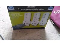 Remote Controlled Mains Sockets Set 3 Pack BRAND NEW BOXED