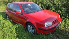 VW GOLF 1.9 GT TDI BRAKING FOR PARTS with black leather seats, and alloy wheels