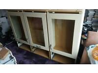 3x kitchen unit cabinets