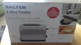 NEW * Salter 2 slice Toaster * RRP £59.99* Selling *****£20.00****