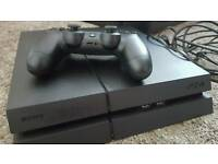 PlayStation 4 (PS4) Console 500gb - matt finish with 2 games