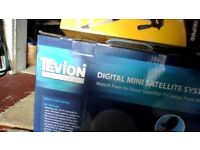 TEVION DIGITAL MINI SATELITE SYSTEM - FREEVIEW WITH STAND