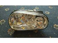 vw golf mk4 drivers side headlight headlamp unit