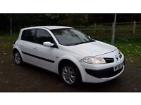 very cheap renault megane expression dci 1.5 diesel 5 door hatchback mot taxed in white tidy car