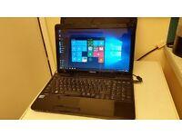 Toshiba Satellite Intel Core i5 L650 Laptop with solid state harddrive OCZ Vertex 4 128SSD