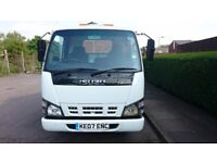 2007 ISUZU NKR 3.5T RECOVERY TRUCK LEZ COMPLIAN (EURO 4),NO VAT,1 PREV OWNER,GENUINE MILES,HPI CLEAR
