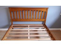 Excellent condition Shaker style King Size solid wood bed frame