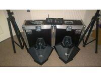 2x flightcases for adj warlocks