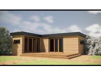 Log cabin mainitance free fully insulated