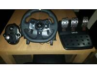 Logitech g920 Xbox one steering wheel pedals and gears