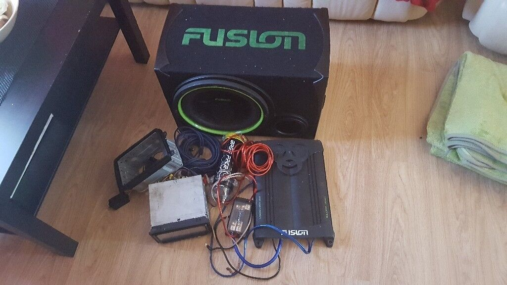 Subwoofer and amplifier for sale
