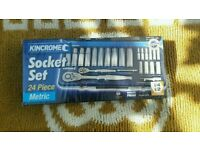 Kincrome 24pc socket set Rrp £95