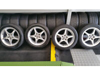 Toyota Genuine 16 alloy wheels + 4 x tyres 205 50 16 MINT CONDITION!!!