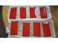 8 Red Ceramic Tiles