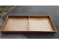 2 x Under bed storage drawers