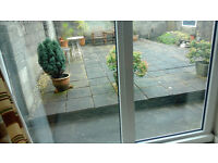 UPVC Tilt & turn patio doors in white, H 2030mm x W 1880mm, excellent condition