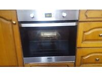 beko built in oven and zanussi gas hob
