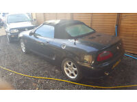 MG MGF 1997. 1.8 litre. GUNMETAL GREY NO MOT. 83000 GOOD ENGINE ETC