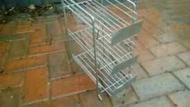Wire 3 shelf display rack.
