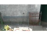 Heavy galvanised gate and railings