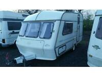 ABI AWARD 2 BERTH caravan with awning and fitted motor mover with 3 year warranty in vgc